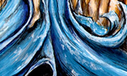 pintura acrílica fluidez mulher água