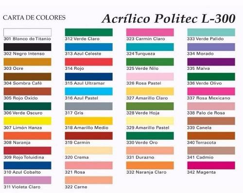 Pintura Acrílica Politec 100 Ml Varios Colores - $ 19.00 en Mercado ...