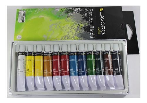 pintura acrílica set de 12 colores