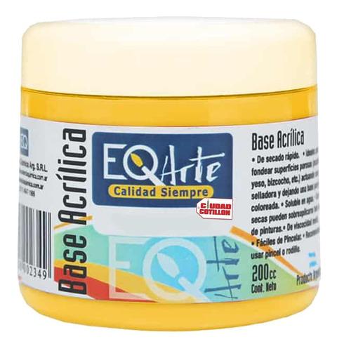 pintura acrílico amarillo decorativa eqarte 200cc - cc