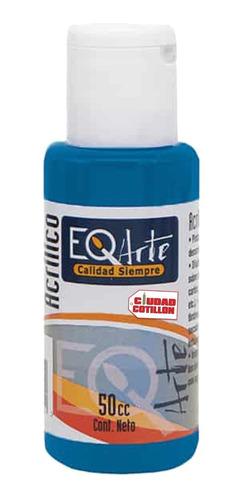 pintura acrílico azul cerúleo decorativa eqarte 50cc - cc