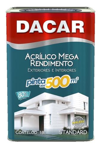 pintura acrílico mega rendimiento dacar antihongo 18l