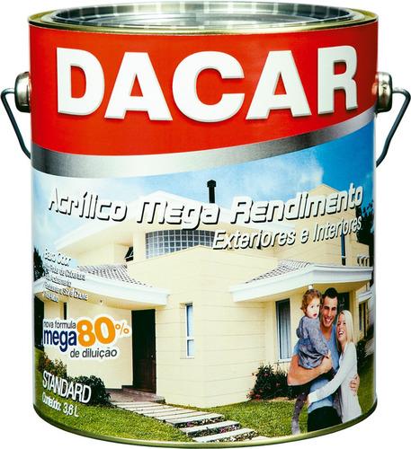 pintura acrílico mega rendimiento dacar antihongo 3,6l