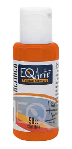 pintura acrílico naranja decorativo eqarte 50cc - cc