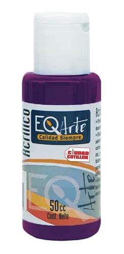 pintura acrílico púrpura decorativo eqarte 50cc - cc