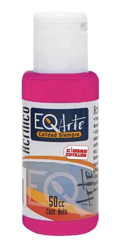 pintura acrílico rosa púrpura decorativa eqarte 50cc - cc