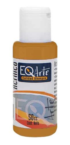 pintura acrílico tierra siena natural eqarte 50cc - cc