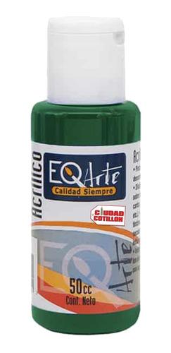 pintura acrílico verde talo decorativo eqarte 50cc - cc