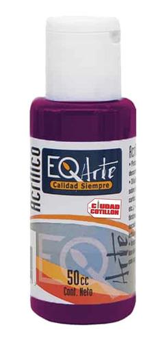 pintura acrílico violeta decorativo eqarte 50cc - cc