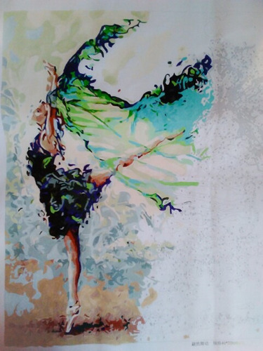 pintura acuarela con tela pintar por numeros, sé un artista