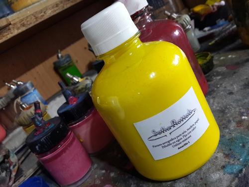 pintura aerografica al agua7 125cc amarillo textil