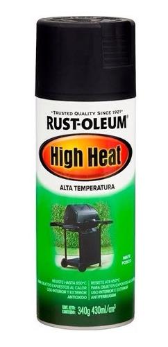 pintura aerosol alta temperatura 650° rust oleum - garin
