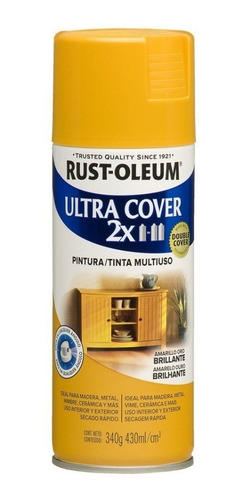 pintura aerosol rust oleum ultra cover 2x brillante 430 ml