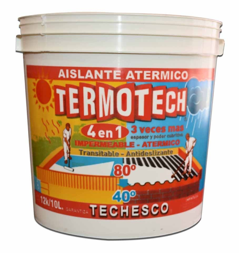 pintura aislante termica para techo 25 kg techesco - $ 1.649,00 en