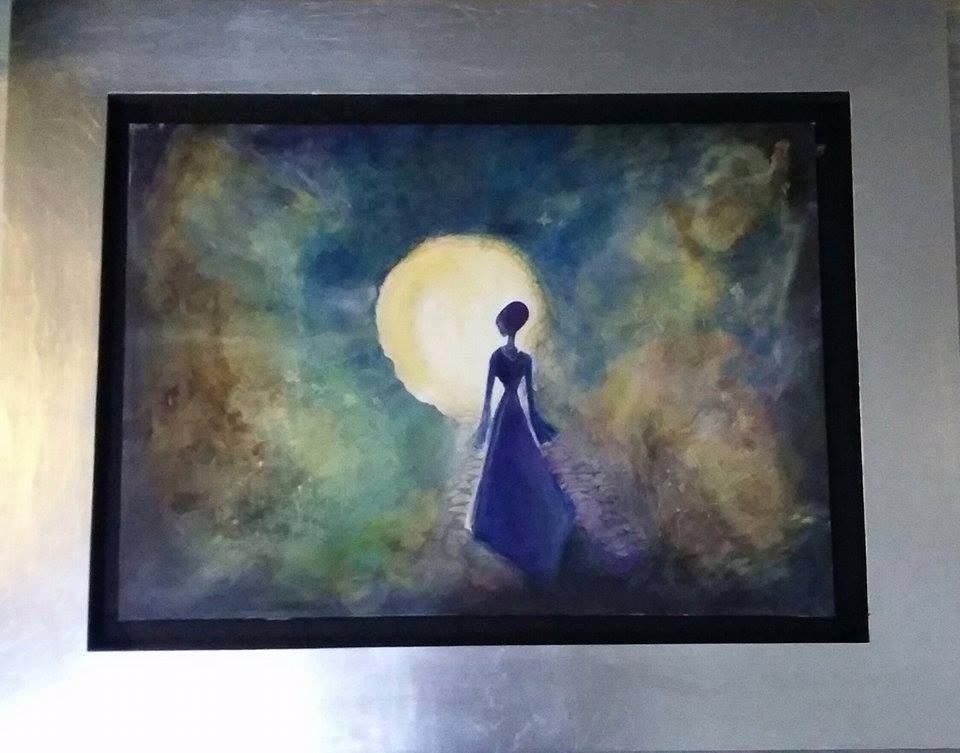 Pintura Al Oleo A Mano Marco De Hoja De Plata Elegante - $ 3,500.00 ...