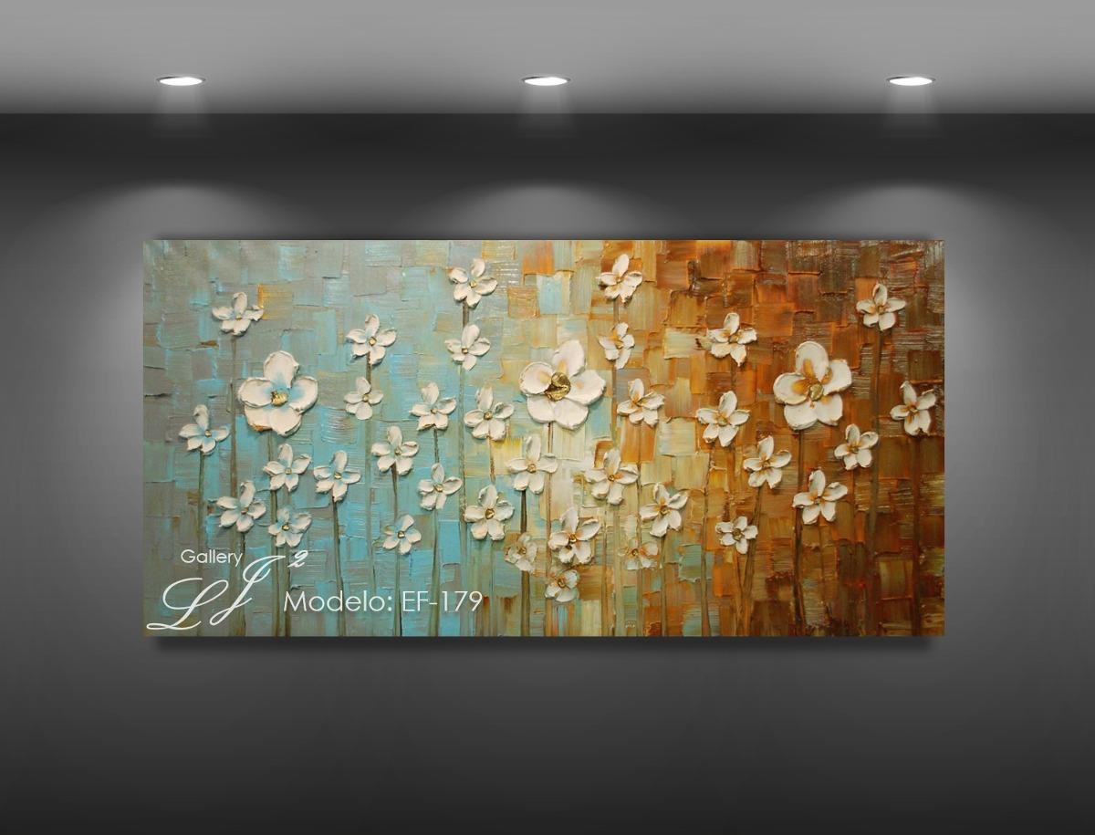 Pintura al leo con esp tula hecha a mano cuadro for Cuadros de pared grandes