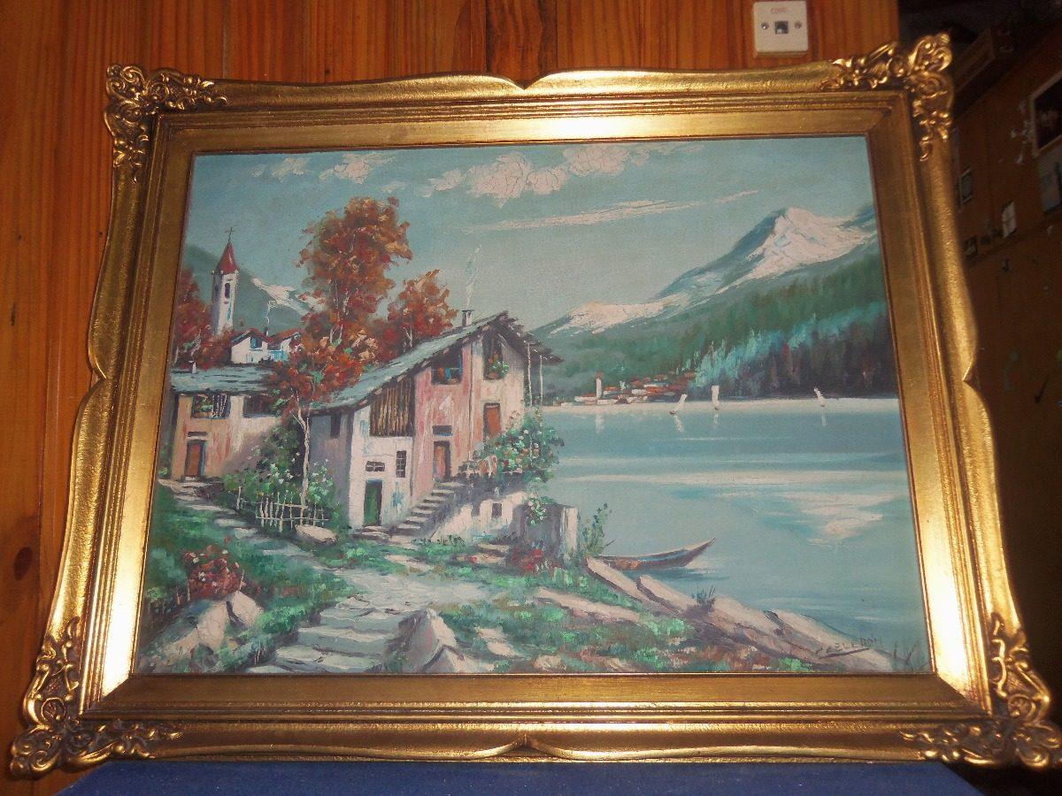Pintura Al Óleo Con Marco De Yeso Y Madera 67x82 Cm - $ 1.500,00 en ...