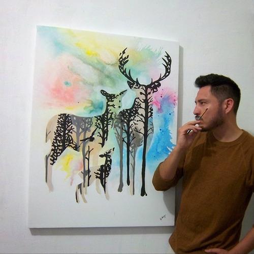 pintura al oleo efecto watercolor