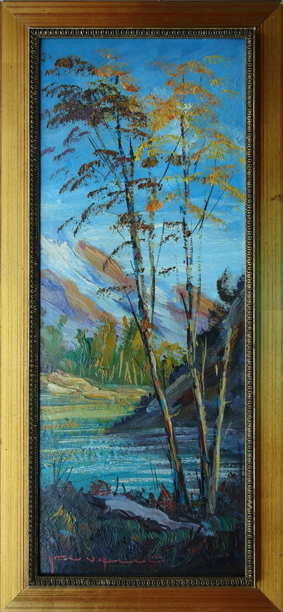 Pintura Al Oleo Paisaje De China Original Cuadro Enmarcado - $ 850 ...
