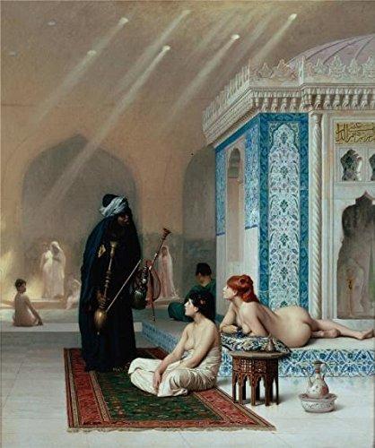 pintura al óleo piscina en un harén, 1876 por jean-león ge