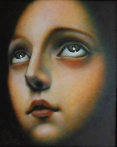 pintura al óleo. rostro.
