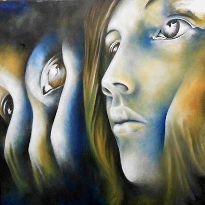 pintura al óleo rostro mujer.