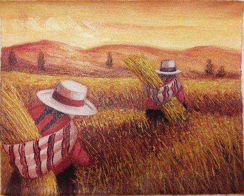 pintura al óleo sobre lienzo 25 x 20 cm