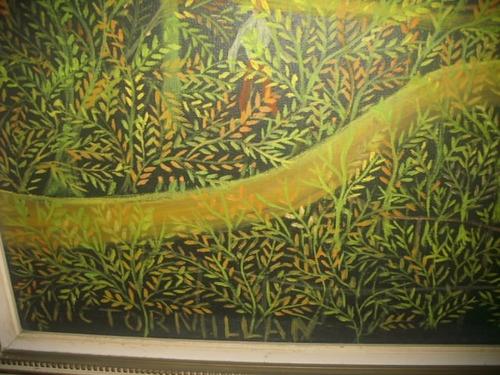 pintura al oleo victor millan año 70   el campo