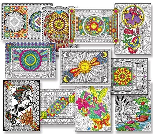 Pintura Al Temple Y Posters Arte Bundle 10 Para Colore