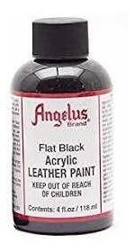 pintura angelus flat black 4  oz