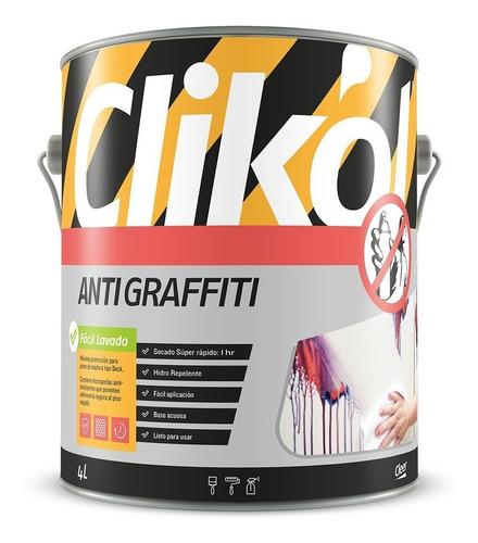 pintura antigrafitti protectora clikol 1 litro compucenter