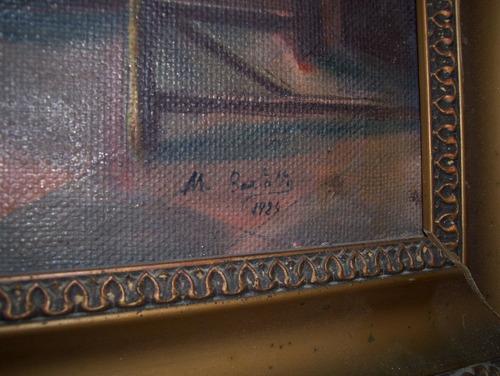 pintura  antigua  tela - motivo religioso
