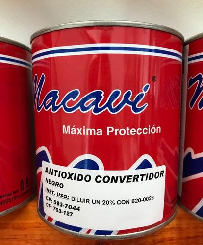 pintura antioxido especial negro 90ml linea macavi
