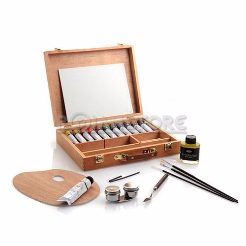 pintura artel óleo con maleta y accesorios