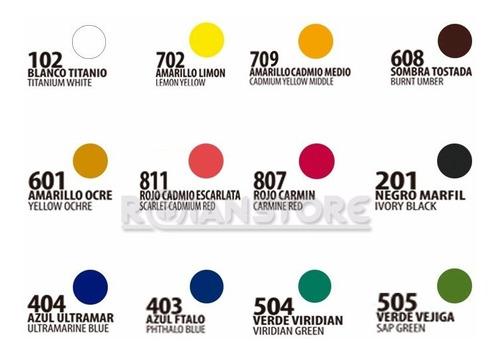 pintura artel oleo set 12 colores 12ml