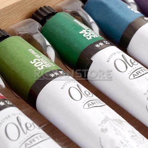 pintura artel óleo set 8 colores 12ml