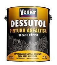 pintura asfáltica base solvente x 4 litros venier membrana