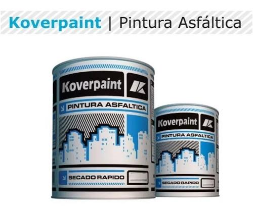 pintura asfáltica impermeabilizante solvente 4lt koverpaint