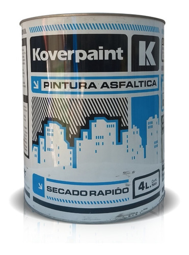 pintura asfáltica koverpaint | kartonsec | 4 litros