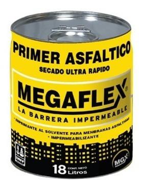pintura asfaltica megaflex de 18 litros al solvente