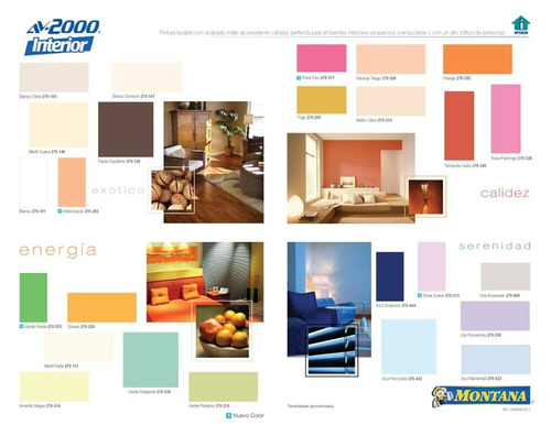 pintura av2000 montana interior/ brillo de seda/exterior