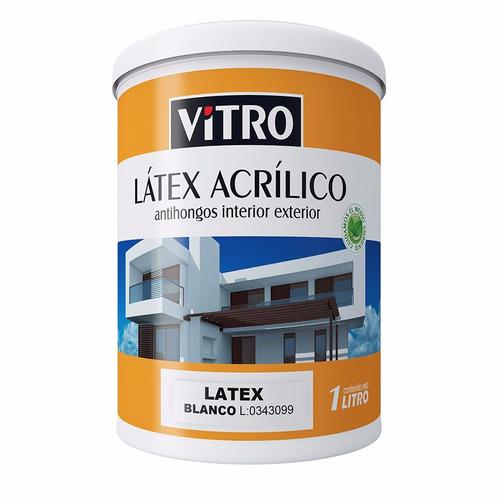 pintura blanca interiores y exteriores anti hongos 10 litros
