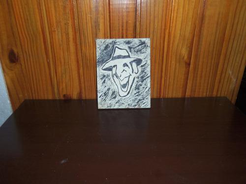 pintura carlos gardel 16x21 cm