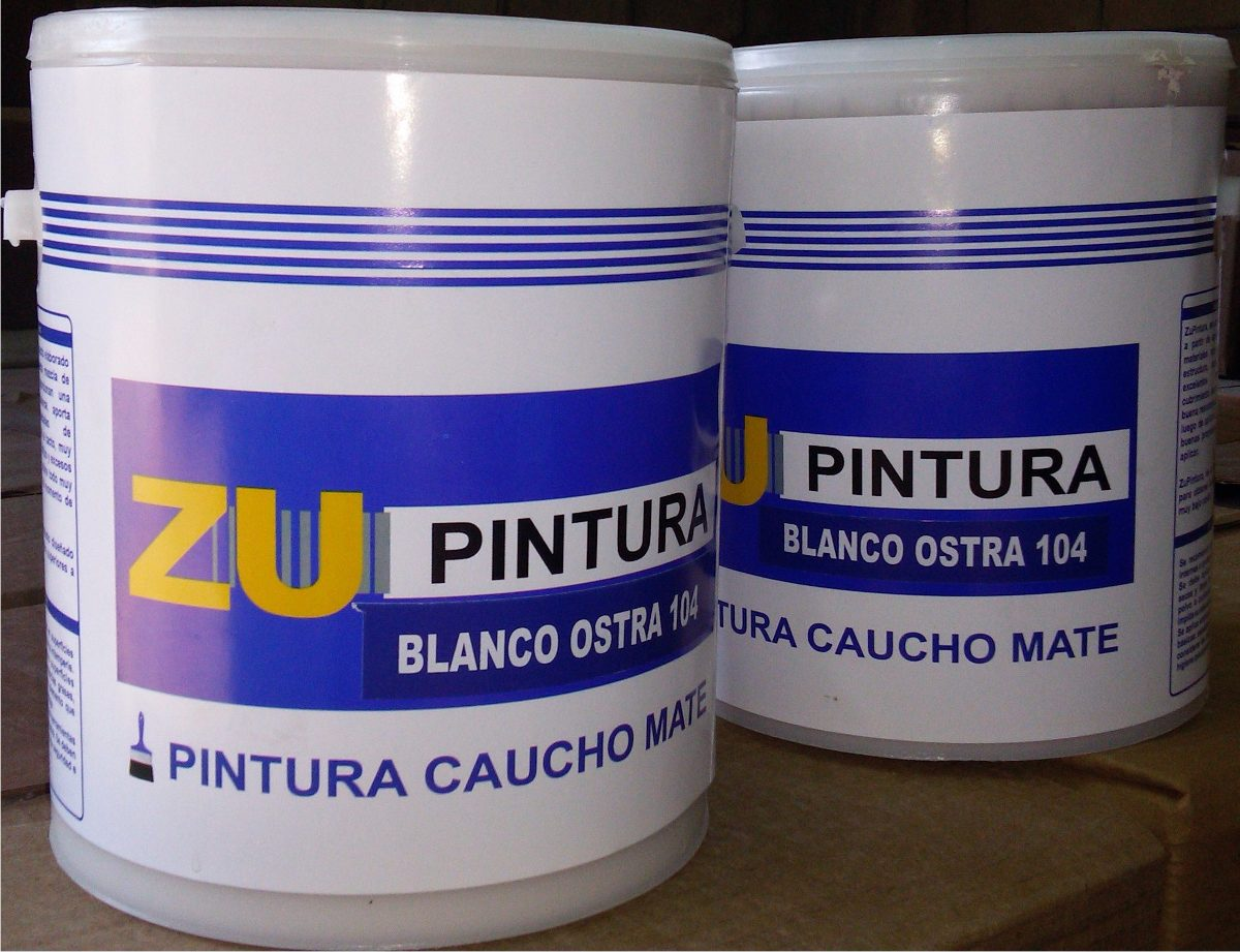 Pintura Caucho Mate Color Blanco Cunete De 4 Galones Bs 38 750 00