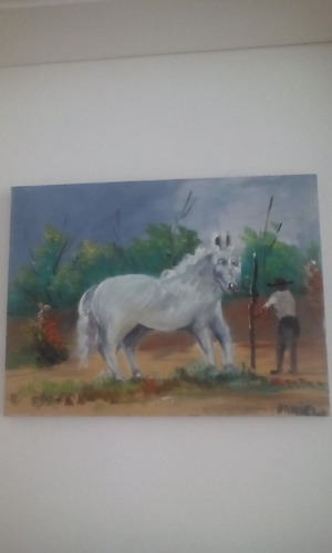 pintura cavalo e cavaleiro