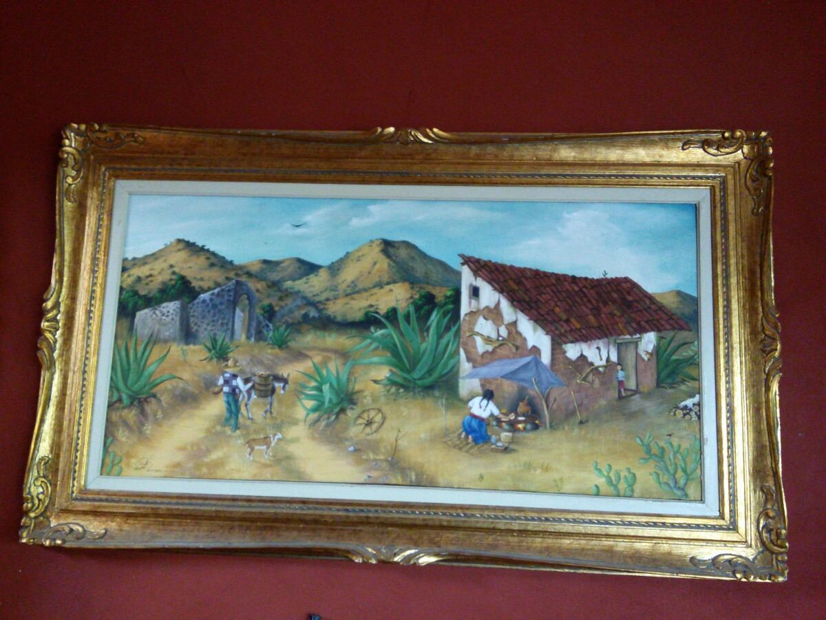 Pintura Clásica Se Óleo Marco Hoja Oro - $ 6,500.00 en Mercado Libre