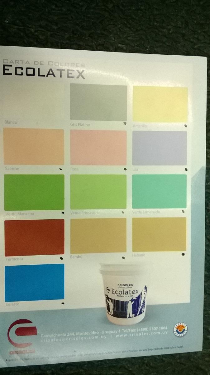 Pintura Colores 4 Litros Ecolatex Interiores 12 Colores 518 00  ~ Colores De Pintura Para Interiores