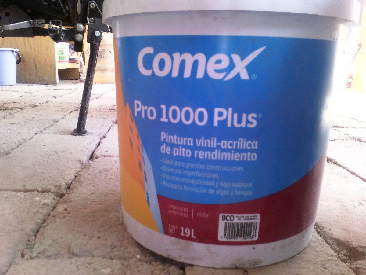 Pintura comex pro 1000 plus blanco 19lts en - Pintura para baldosas precio ...