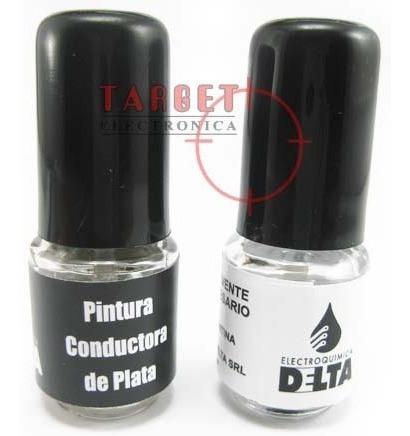 pintura conductora base de plata delta 6 gr
