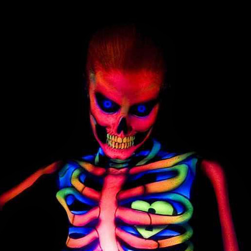 pintura corporal fluorescente colores neon 20 gr